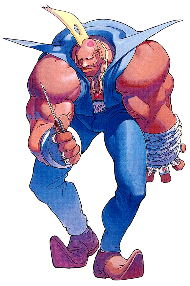 Birdie artwork #1, Street Fighter Alpha