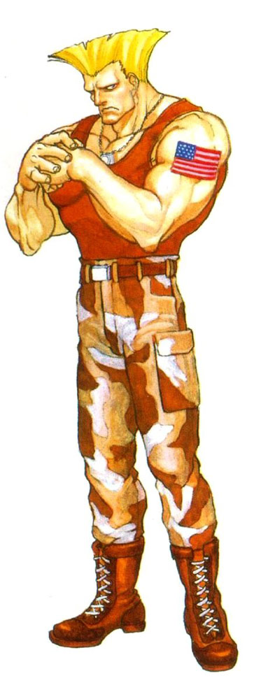 Guile artwork #5, Street Fighter 2
