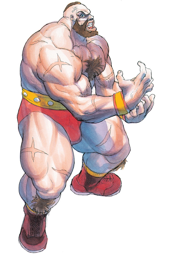 Zangief artwork #11, Street Fighter 2