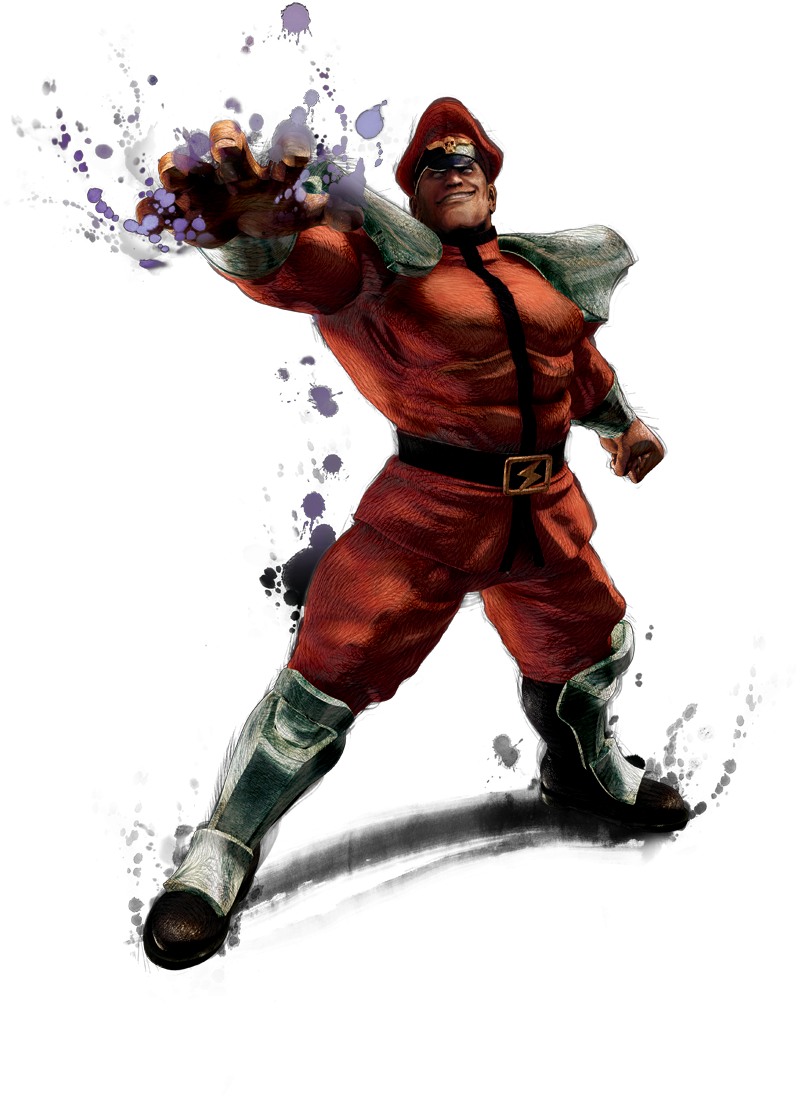 M. Bison's artwork for Super Street Fighter 4