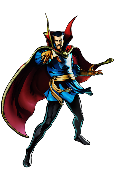 Dr. Strange's artwork for Ultimate Marvel vs. Capcom 3
