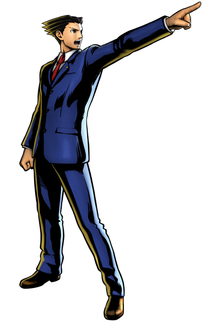 Phoenix Wright's artwork for Ultimate Marvel vs. Capcom 3
