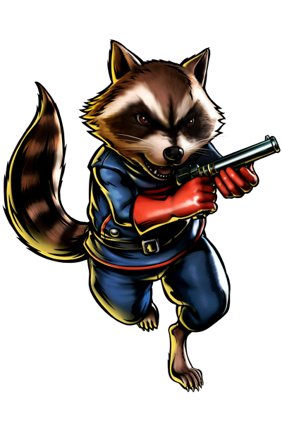 Rocket Raccoon's artwork for Ultimate Marvel vs. Capcom 3