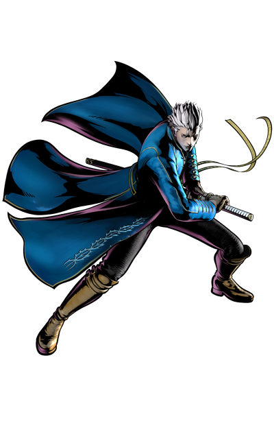 Vergil's artwork for Ultimate Marvel vs. Capcom 3