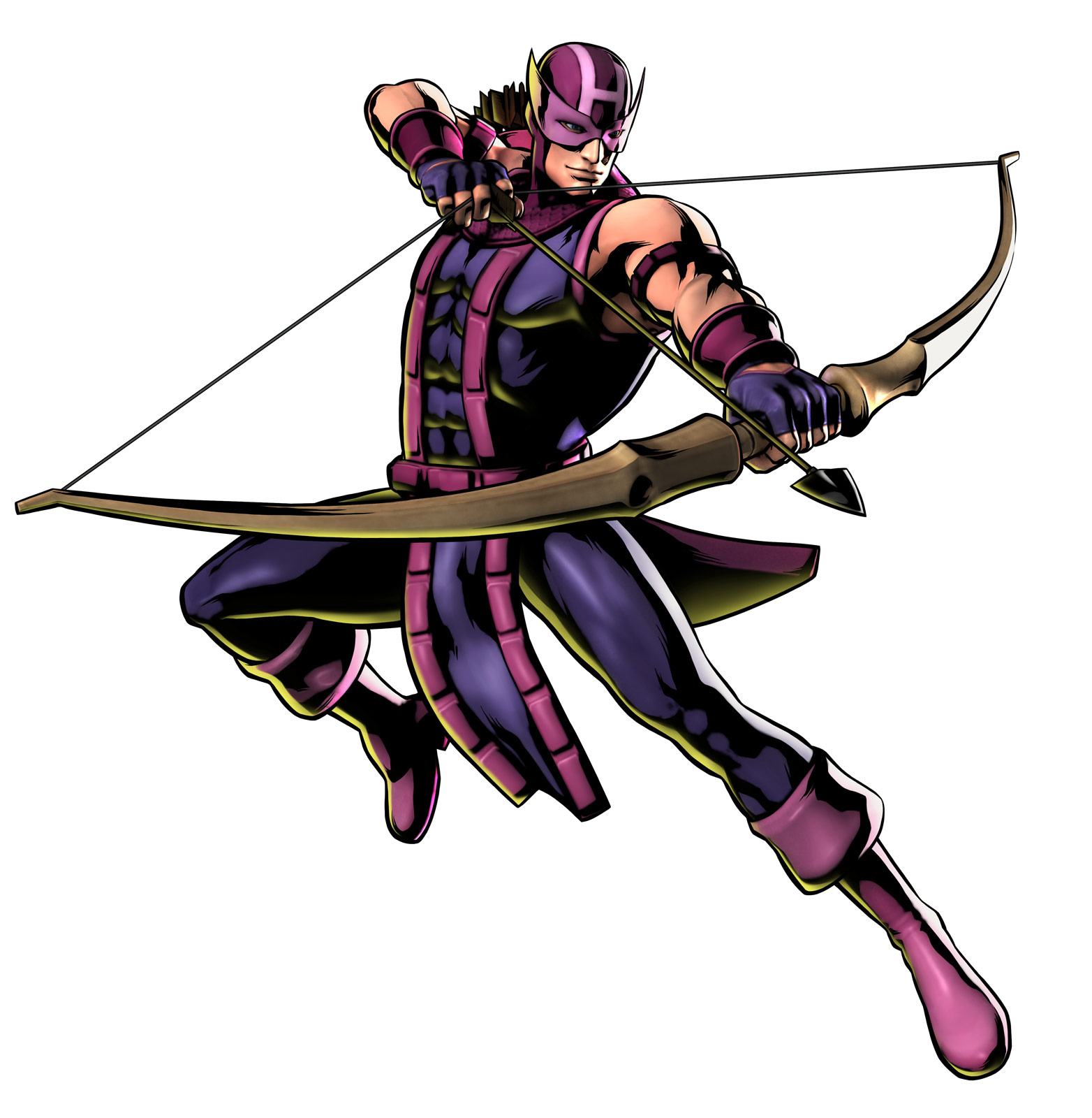 Hawkeye's Ultimate Marvel vs. Capcom 3 artwork