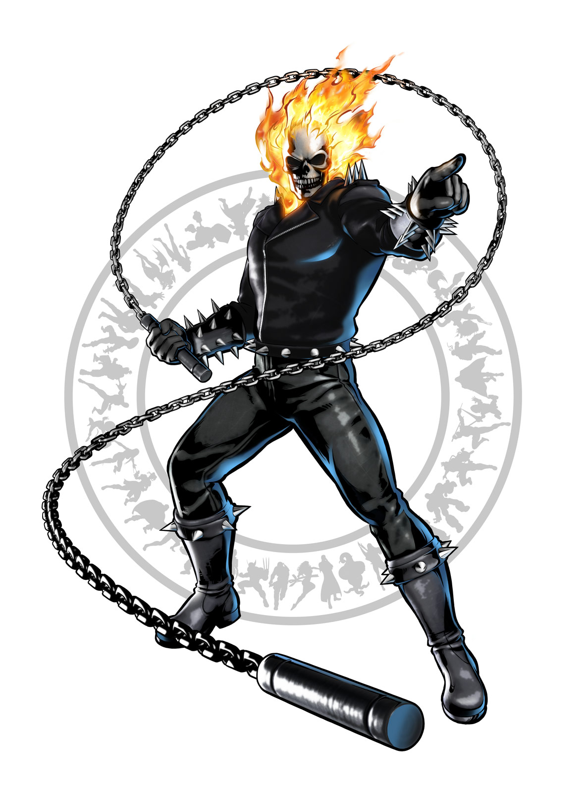 Ghost Rider's artwork for Ultimate Marvel vs. Capcom 3