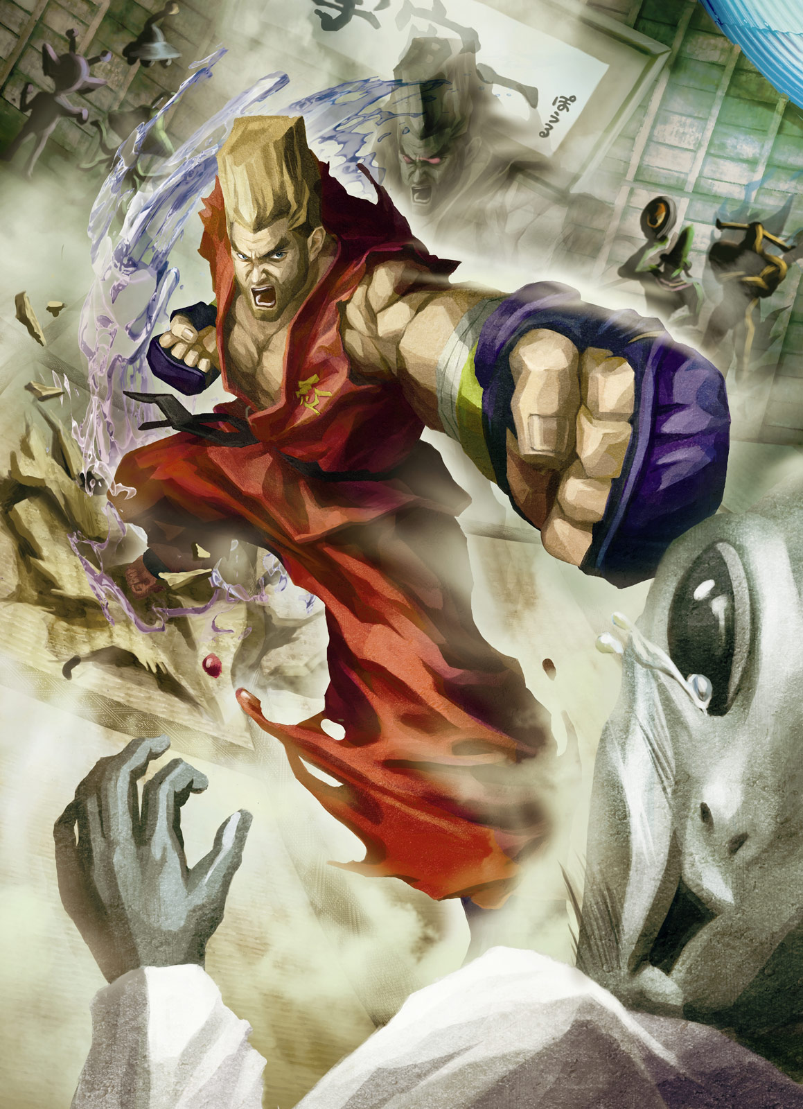 Street Fighter X Tekken artwork Balrog, Vega, Juri, Paul, Law & Xiaoyu #12
