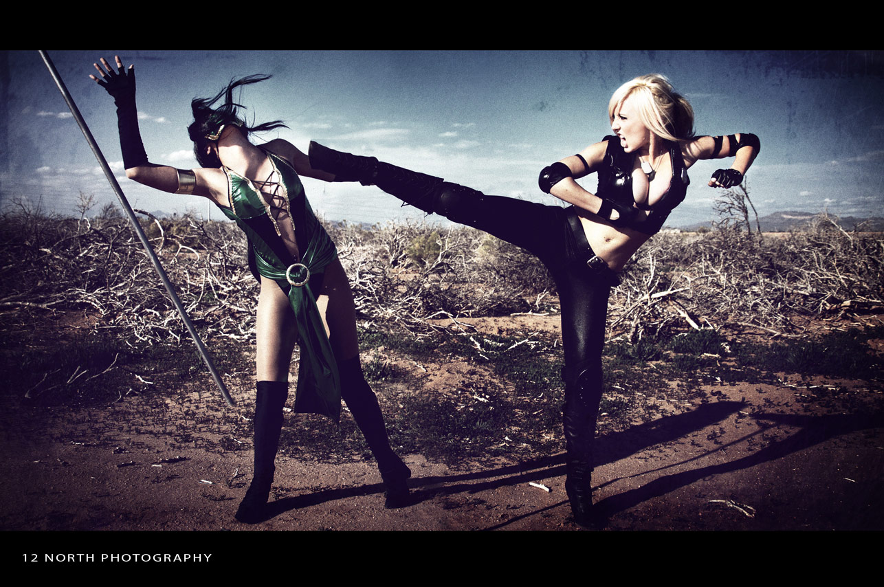Grindhouse styled Mortal Kombat cosplay images from 12 North Photography #9