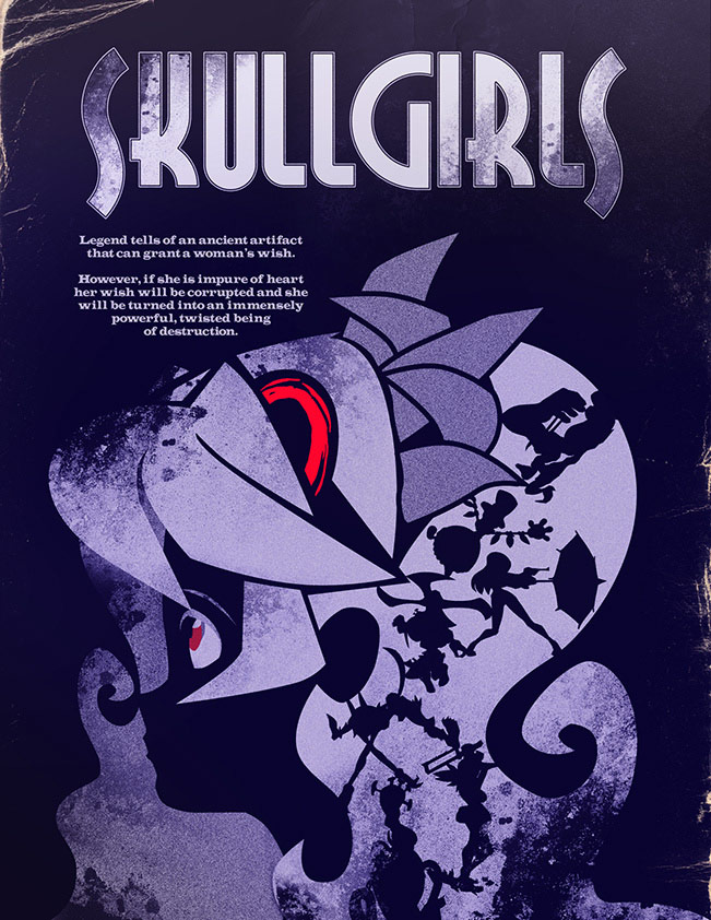Skullgirls limited edition poster for charity