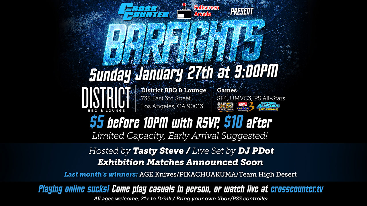 Bar Fights - January 27, 2013, flyer