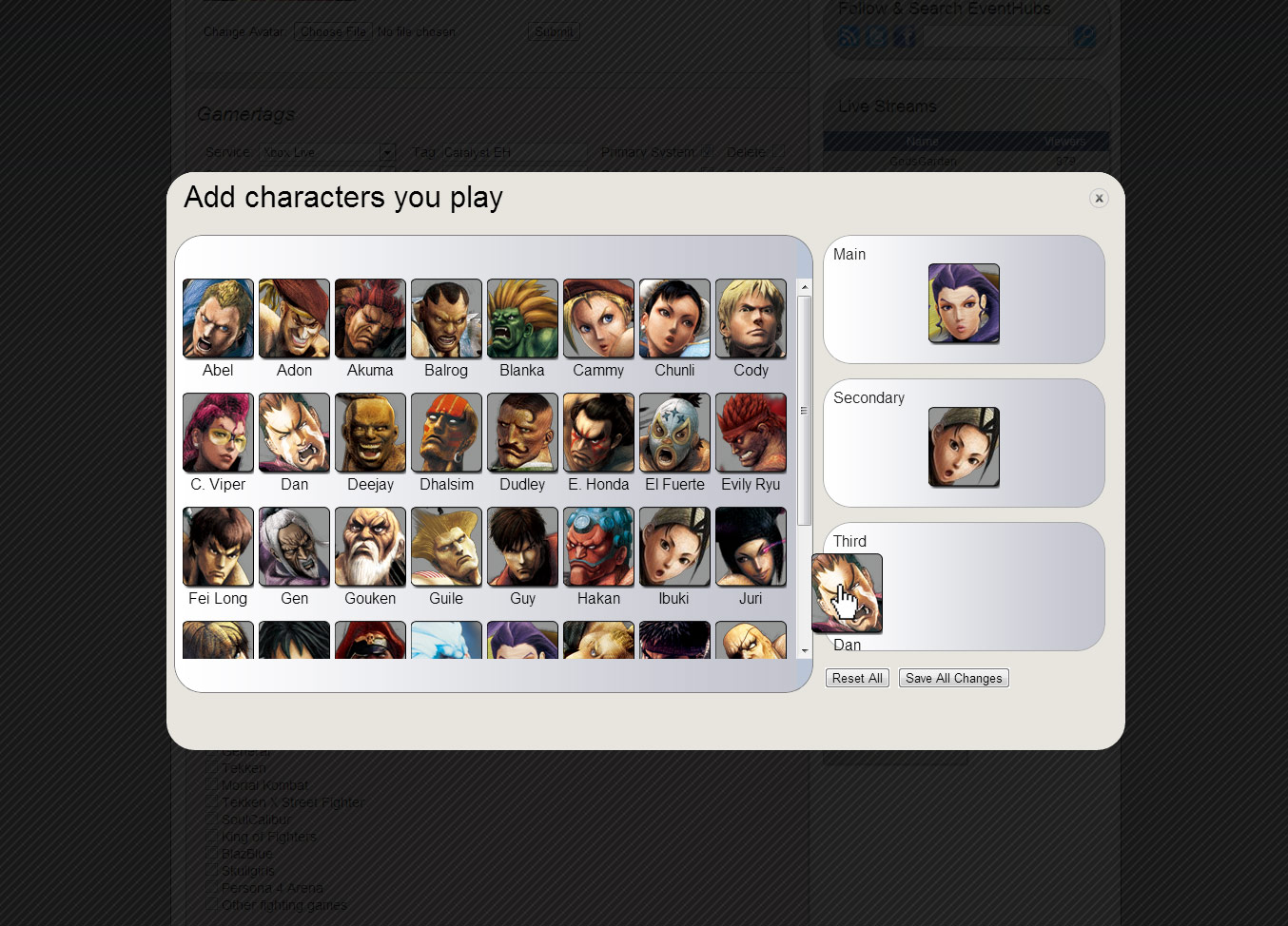 Characters for the EventHubs Fight Tracker preview #2