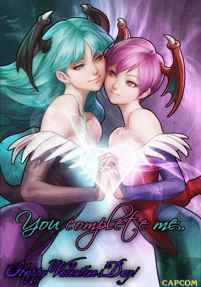Darkstalkers Valentine&#39;s Day card #3