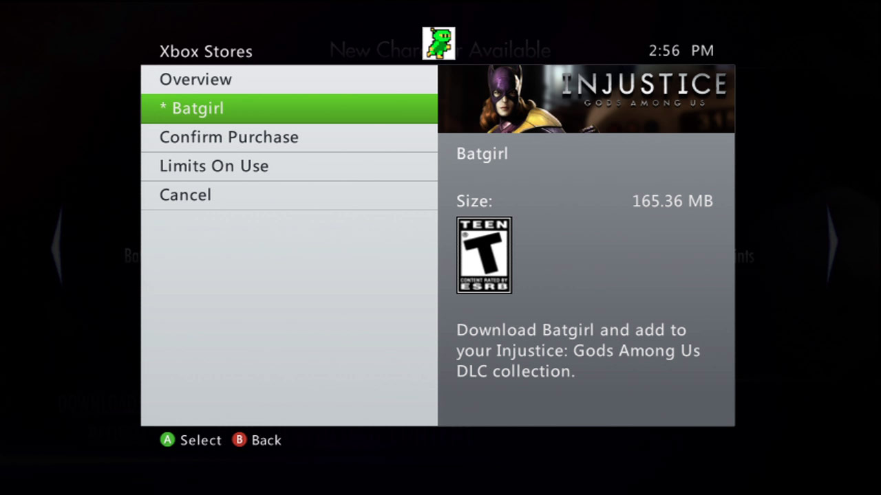 Injustice: Gods Among Us - Batgirl on Xbox 360 Marketplace #02