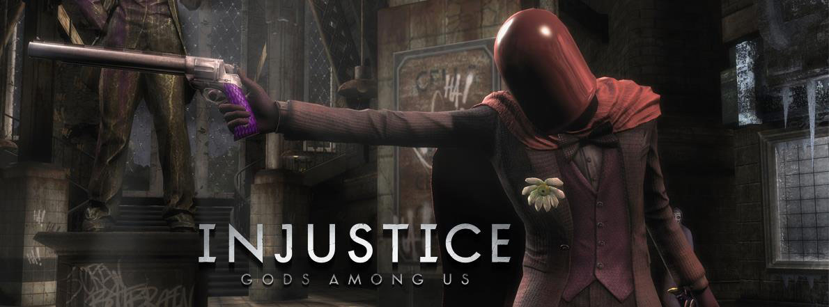 The Joker's Red Hood alternate costume in Injustice: Gods Among Us