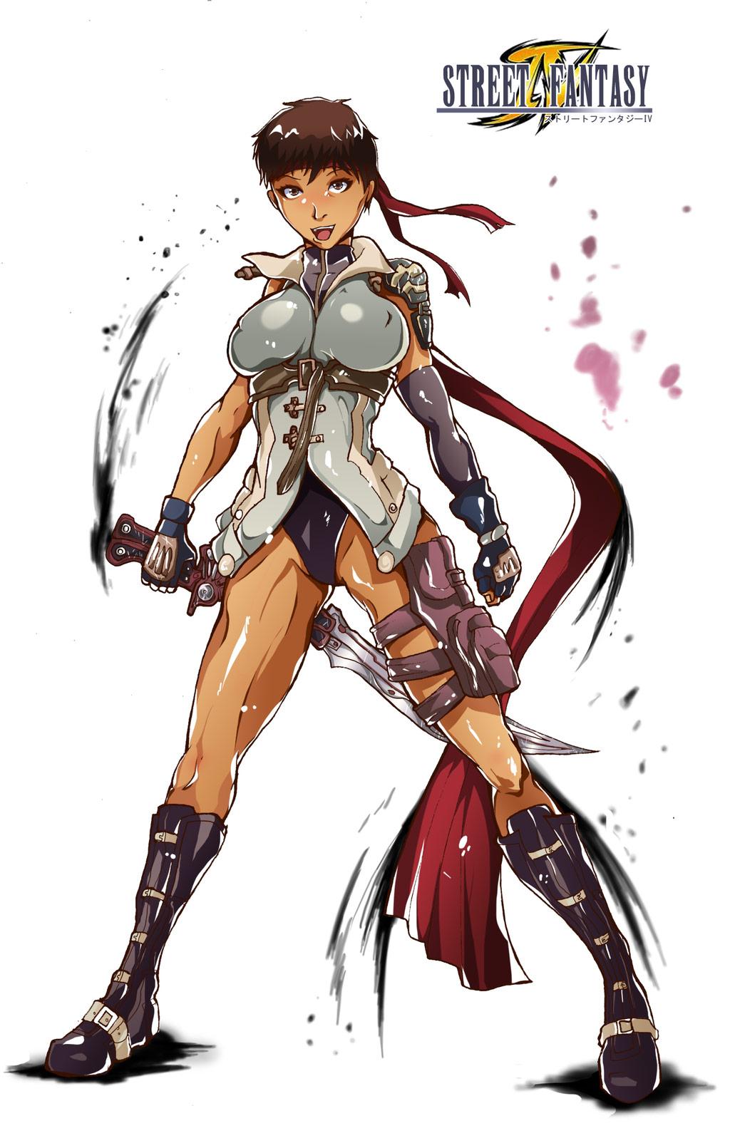Final Fantasy X Street Fighter artwork - Sakura, Cammy, Chun-Li and ...