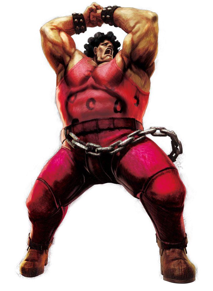 Hugo behind the ...Q Street Fighter 4