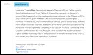 Street Fighter 5 San Diego Comic-Con panel info image #1