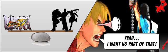 No balance patches currently planned for Ultra Street Fighter 4, blood and gore will likely prevent a crossover with Mortal Kombat