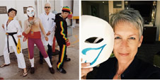 Jamie Lee Curtis attends EVO 2015 dressed as Vega image #1