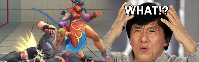Air behind Chun-Li swept, Sagat's ultra mishap - You know you're having a bad day when stuff like this happens...