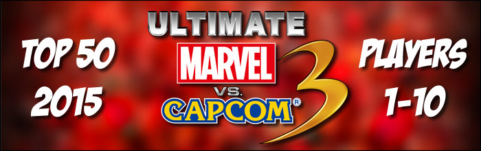 EventHubs 2015 top 50 Ultimate Marvel vs. Capcom 3 players 1-10 - photo finish at the end for the Marvel gods