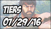 Street Fighter 5 tiers July 29th, 2016 image #1