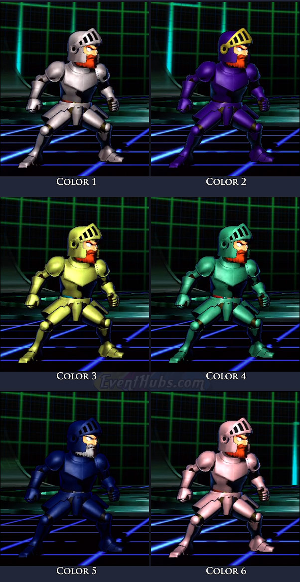 Arthur's main costume colors in Marvel vs. Capcom 3