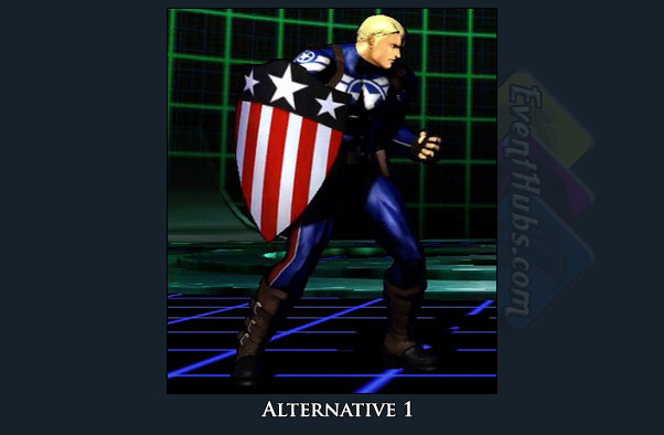 Captain America's alt costume color in Marvel vs. Capcom 3