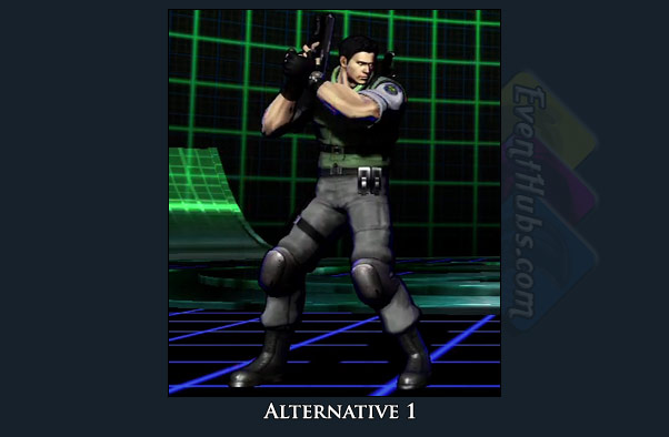 Chris Redfield's alt costume color in Marvel vs. Capcom 3