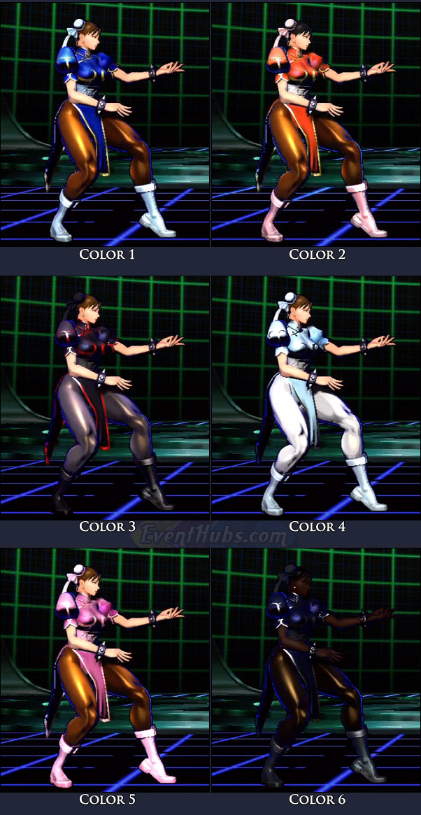 Chun-Li's main costume colors in Marvel vs. Capcom 3