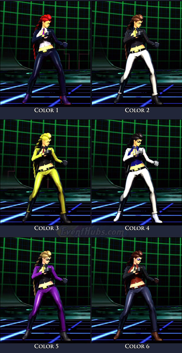 C. Viper's main costume colors in Marvel vs. Capcom 3