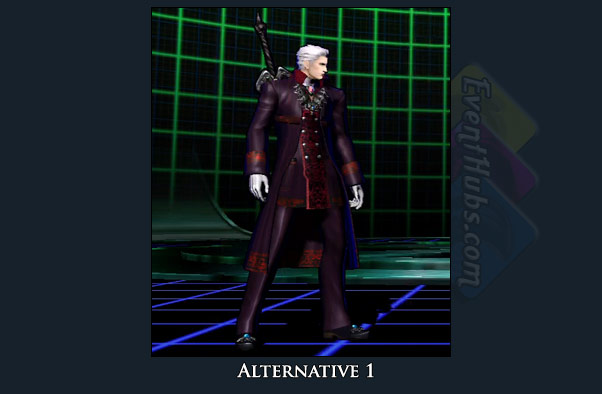 Dante's alt costume color in Marvel vs. Capcom 3