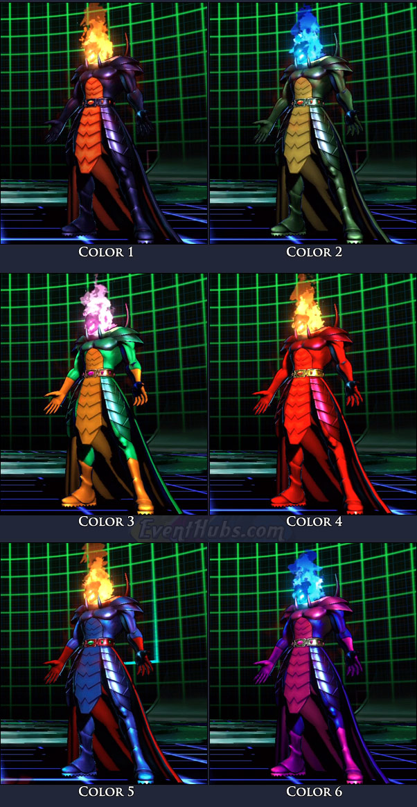 Dormammu's main costume colors in Marvel vs. Capcom 3
