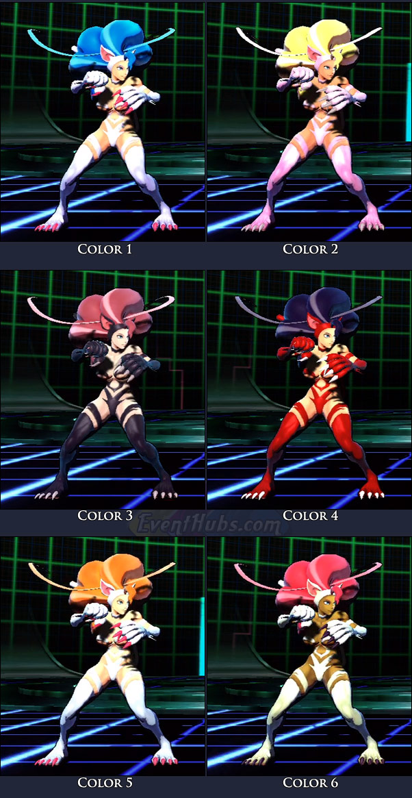 Felicia's main costume colors in Marvel vs. Capcom 3