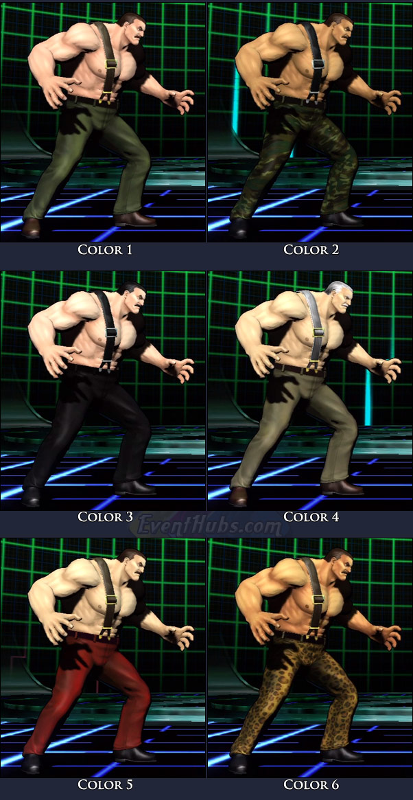 Haggar's main costume colors in Marvel vs. Capcom 3