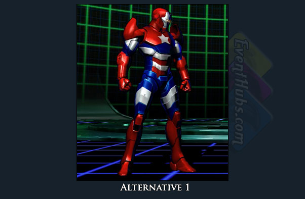 Iron Man's alt costume color in Marvel vs. Capcom 3