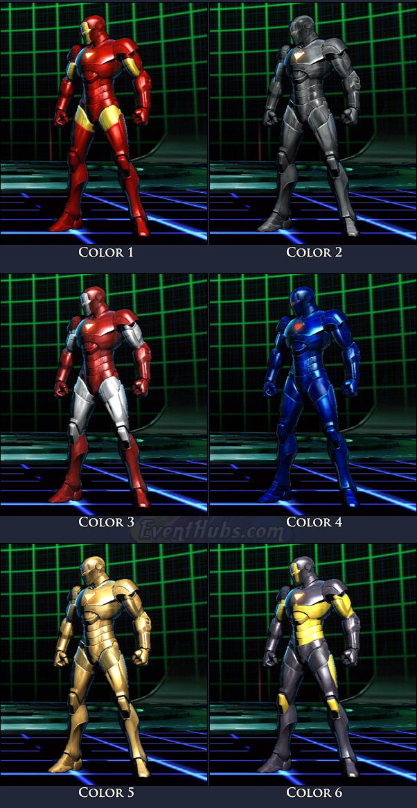 Iron Man's main costume colors in Marvel vs. Capcom 3