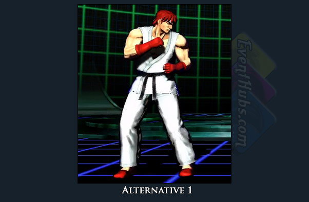 Ryu's alt costume color in Marvel vs. Capcom 3