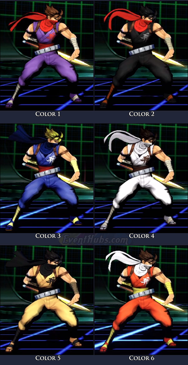 Strider's main costume colors in Marvel vs. Capcom 3