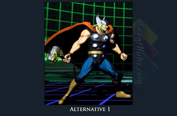 Thor's alt costume color in Marvel vs. Capcom 3
