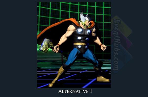 Thor's alt costume color in Marvel vs. Capcom 3
