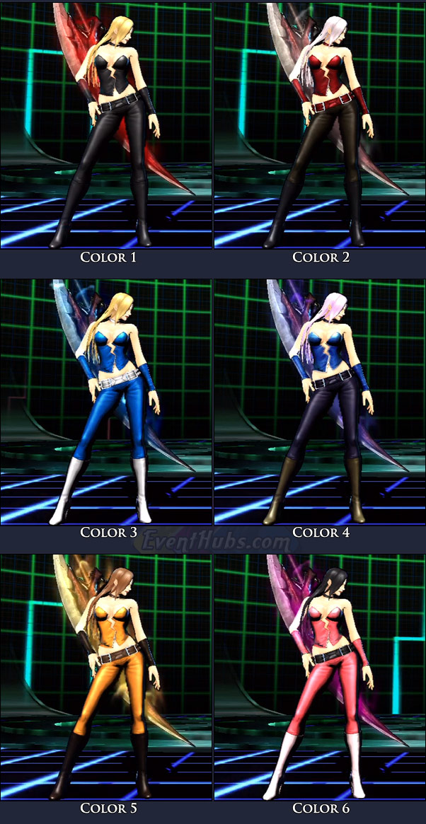 Trish's main costume colors in Marvel vs. Capcom 3