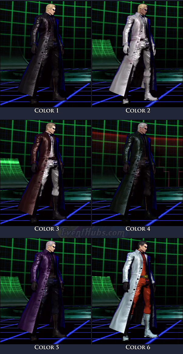 Wesker's main costume colors in Marvel vs. Capcom 3
