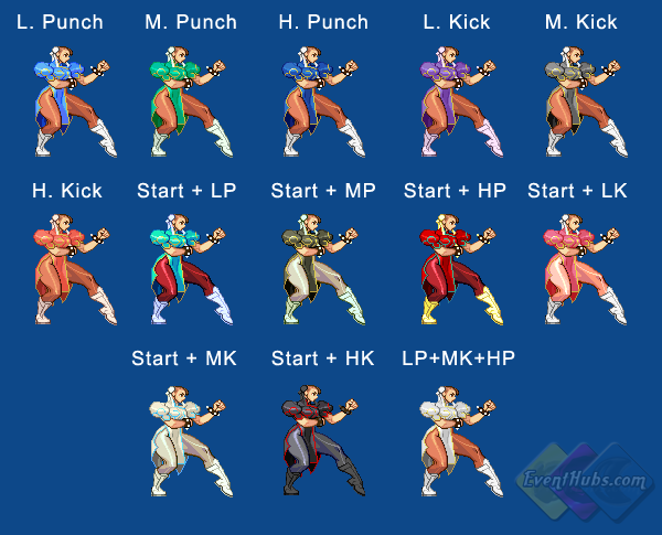 Chun Li's color guide