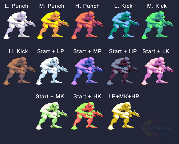 Twelve's colors in Street Fighter 3 Third Strike