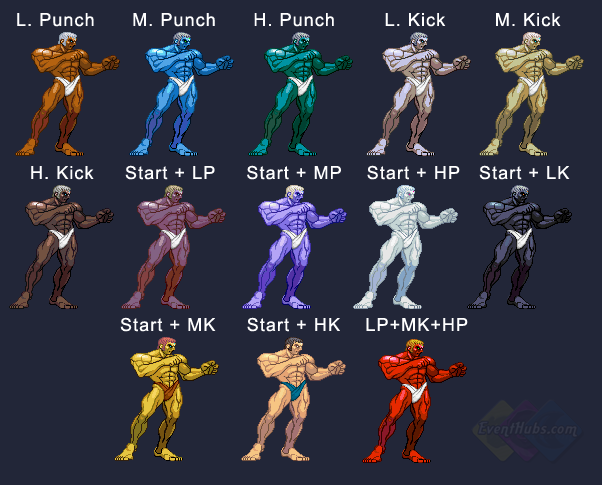 Urien's colors in Street Fighter 3 Third Strike