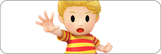 Lucas Super Smash Bros. Wii U artwork