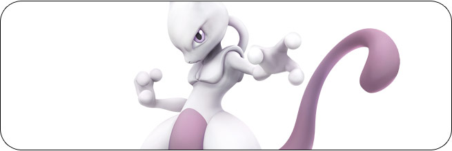 Mewtwo Super Smash Bros. Wii U artwork