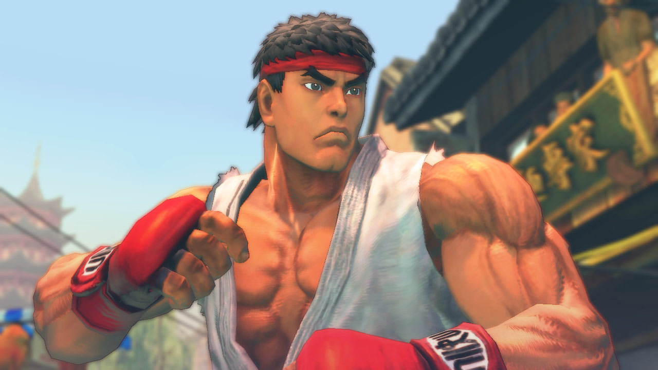 PC Street Fighter IV screen shot in normal mode