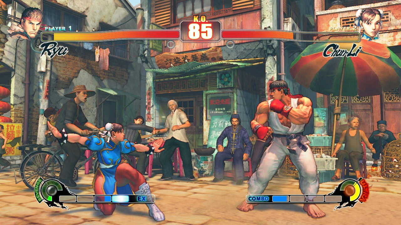 PC Street Fighter 4 another screen shot in normal mode